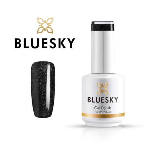 BLUESKY Esmalte gel 63932 Negro Glitter Semi Holografico