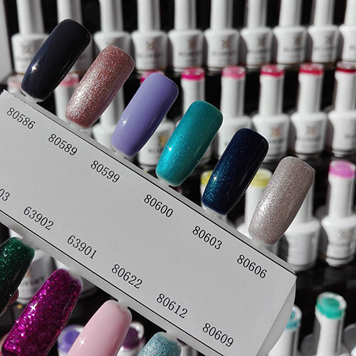 BLUESKY Esmalte Gel 80603 Azul Petróleo con mini glitters
