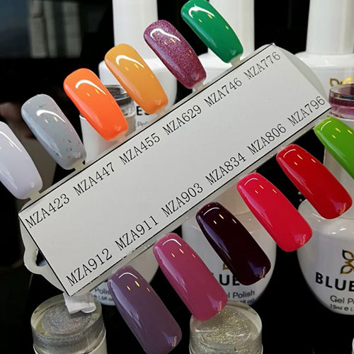 BLUESKY Esmalte Gel MZA629 - Naranjo suave