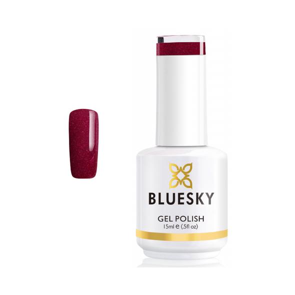 BLUESKY Esmalte Gel PCH31 Rojo Semi - holográfico
