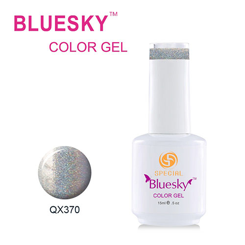 BLUESKY Esmalte Gel QX370 Plateado Holografico
