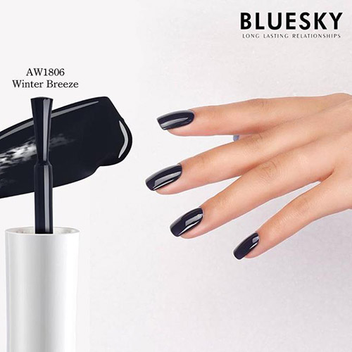 BLUESKY Esmalte Gel WINTER BREEZE - Negro azulado