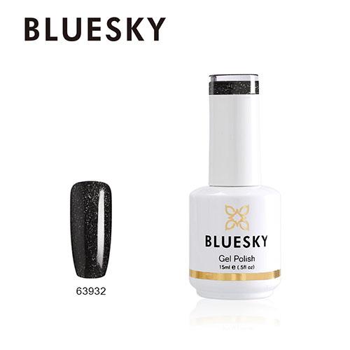 BLUESKY Esmalte Permanente 63932 Negro Glitter Semi Holografico