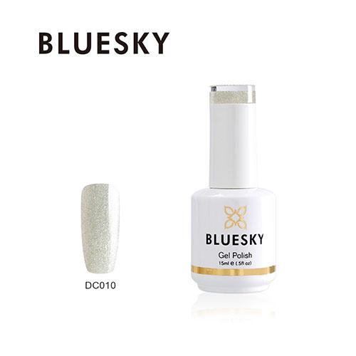 BLUESKY Esmalte Permanente DC10 Transparente tornasol con mix de glitter