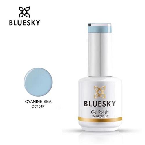 BLUESKY Esmalte Gel DC104 - Celeste Grisáceo