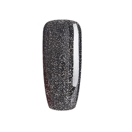 BLUESKY Esmalte Permanente VIP03 Negro con Glitter plateado