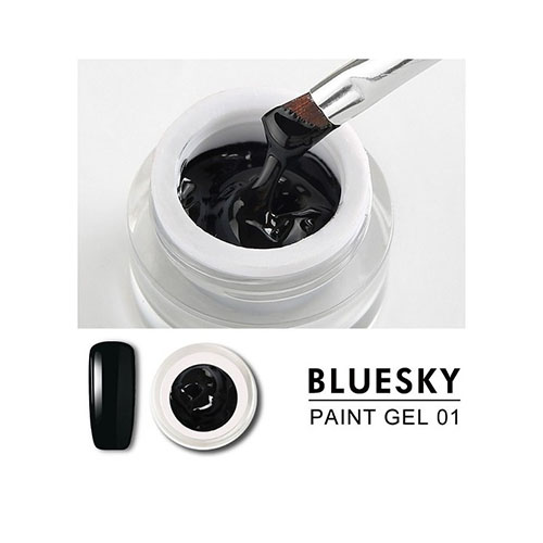BLUESKY Gel Paint para diseño -  01 NEGRO