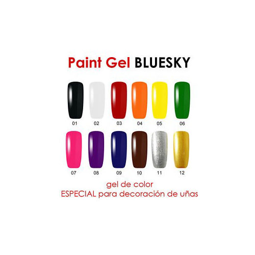 BLUESKY Gel Paint para diseño - 10 CAFE