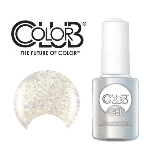 COLOR CLUB Esmalte Gel - Snow flakes (Blanco con glitter iridiscente)