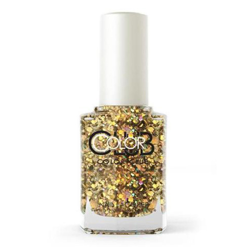 COLOR CLUB Tradicional - You Rock (Glitter plateado y dorado multi-tamaño)