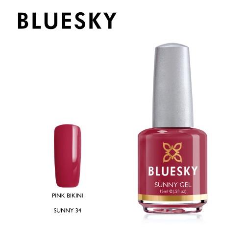Esmalte tradicional Bluesky - Sunny34 Pink bikini - fucsia oscuro