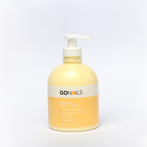 GO NAILS Crema de manos y pies 500ml