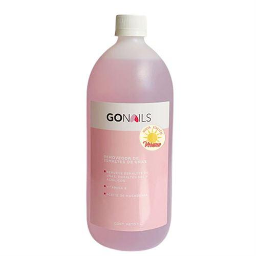 GO NAILS Removedor de esmaltes de uñas 1lt aroma a coco - EDICIÓN LIMITADA