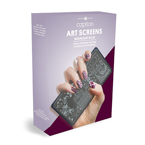 Young Nails Placa Stamping - Midnight Rose